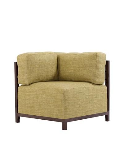 Marley Forrest Coco Peridot Axis Corner Chair, Mahogany Frame
