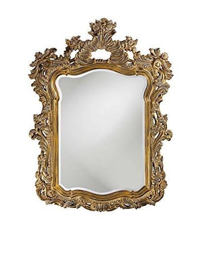 Marley Forrest Turner Mirror, Gold with White Wash