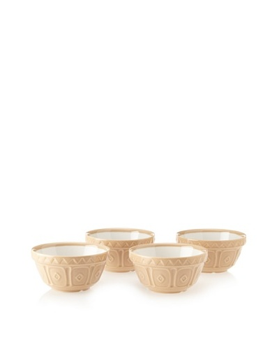 Mason Cash Set of 4 Mixing Bowls, Cane/Off-White, 1.5-Cup