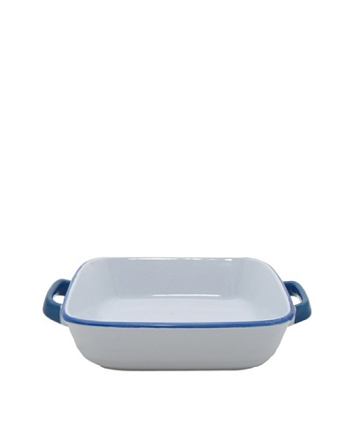 Mason Cash Enamour Square Dish, Blue/White