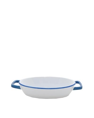 Mason Cash Enamour Oval Dish, Blue/White