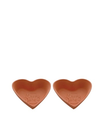Mason Cash Set of 2 Terracotta Heart Tear & Share Bread Baking Form in Gift Box