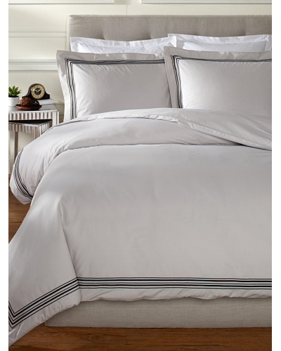 Mason Street Textiles Hotel Piping Duvet Set