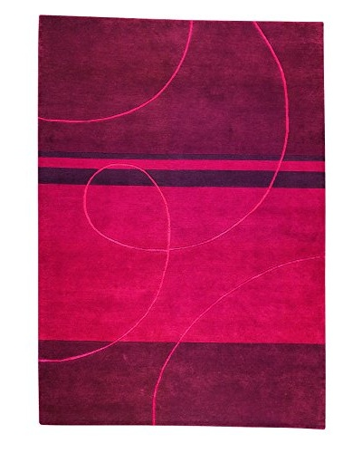 MAT The Basics Flow Rug, Red, 4' 6 x 6' 6