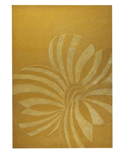 MAT the Basics Jasmine Hand-Carved & Tufted Rug [Gold]