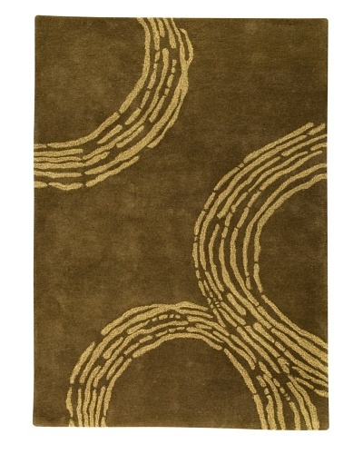 MAT the Basics Pamplona Hand-Tufted & Carved Rug [Olive Green]
