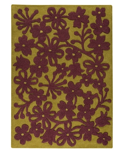 MAT the Basics Newport Hand-Tufted Rug [Green/Plum]