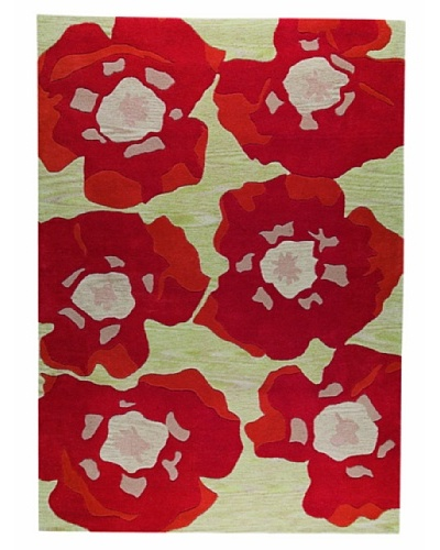 MAT the Basics Poppy Hand-Tufted & Carved Rug [Orange]