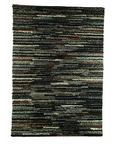 MAT the Basics Mat Mix Hand-Woven Shag Rug [Charcoal]