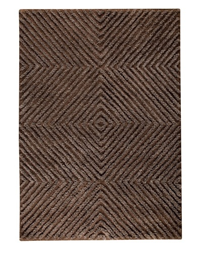 MAT the Basics Buffalo Hand-Tufted Shag Rug [Brown]