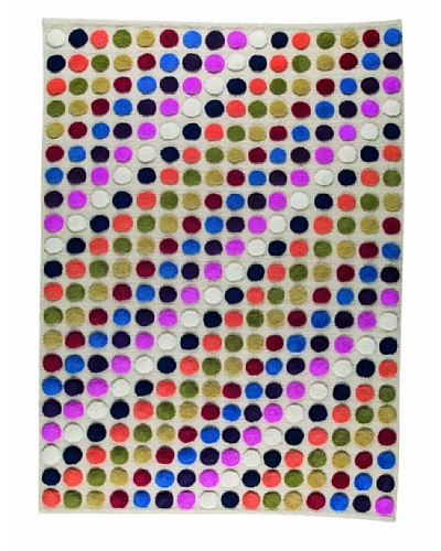 MAT the Basics Smarties Hand-Knotted Rug [White/Multi]