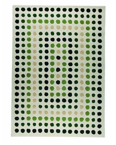 MAT the Basics Dublin Hand-Carved & Tufted Rug [Green]