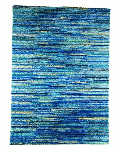 MAT the Basics Mat Mix Hand-Woven Shag Rug [Blue]