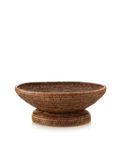 Matahari Round Handwoven Pedestal Basket