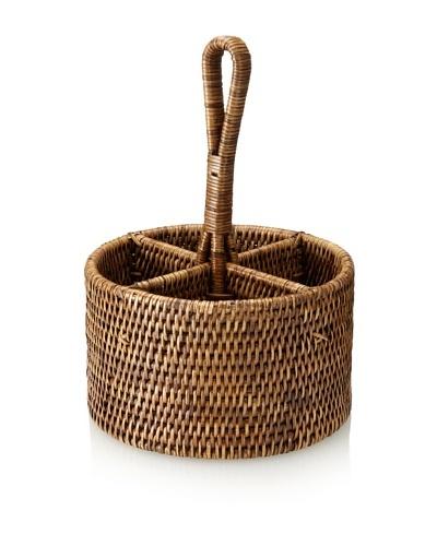 Matahari Round Handwoven Utensil Basket