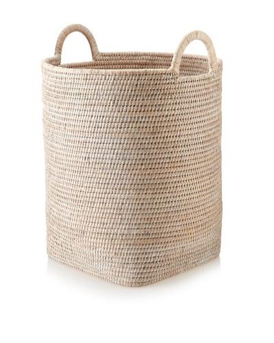 Matahari Round Handwoven Basket with Loop Handle