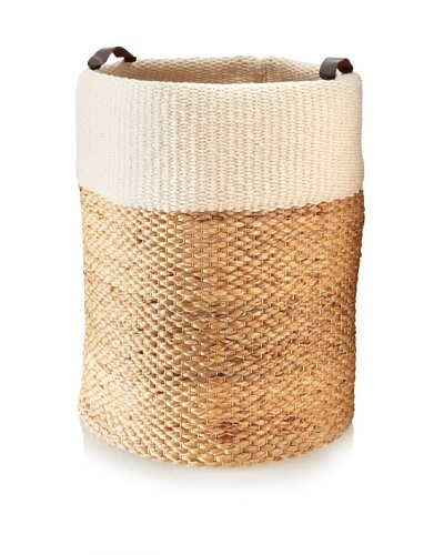 Matahari Water Hyacinth/Cotton Cylinder Basket