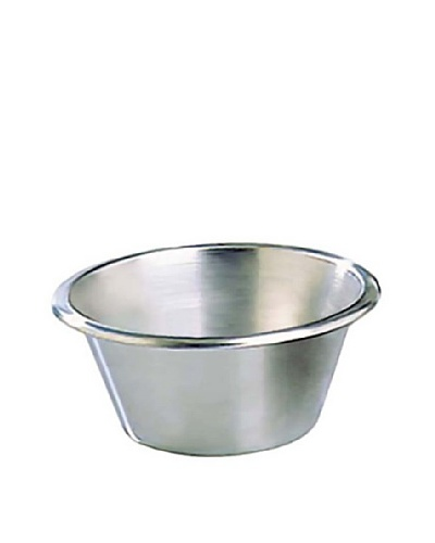 Matfer Bourgeat Flat-Bottom Stainless Steel Pastry Mixing Bowl