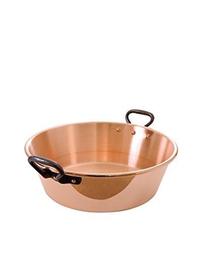 "Mauviel M'passion 15.75"" Copper Jam Pan with Cast Iron Handles"