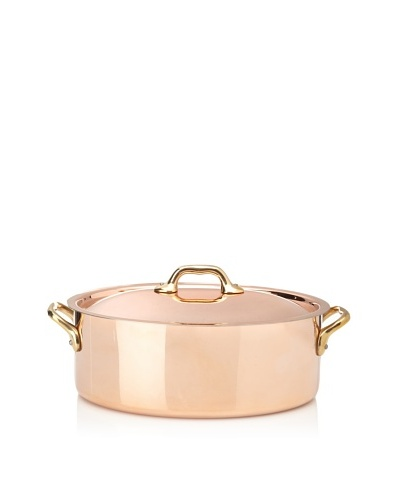 Mauviel M'héritage 4-Qt. Lidded Oval Stockpot with Bronze HandlesAs You See