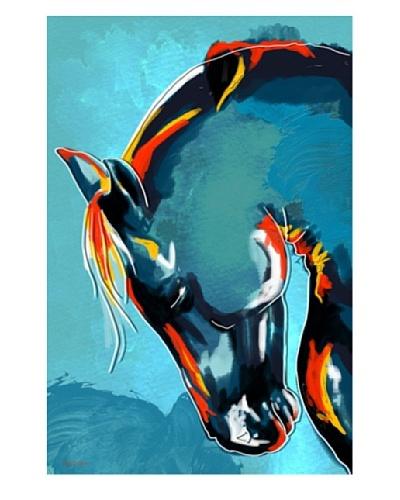Maxwell Dickson Blue Stallion Canvas Art