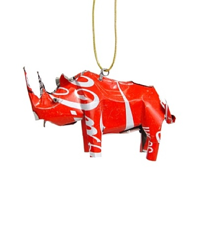 Mbare Coca Cola Tin Rhino Ornament
