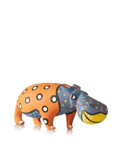 Mbare 8 Painted Wood Hippo