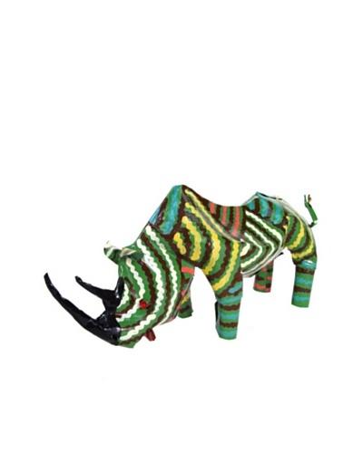 Mbare Painted Tin Rhino