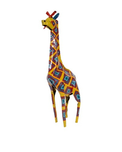 Mbare Painted Tin Giraffe