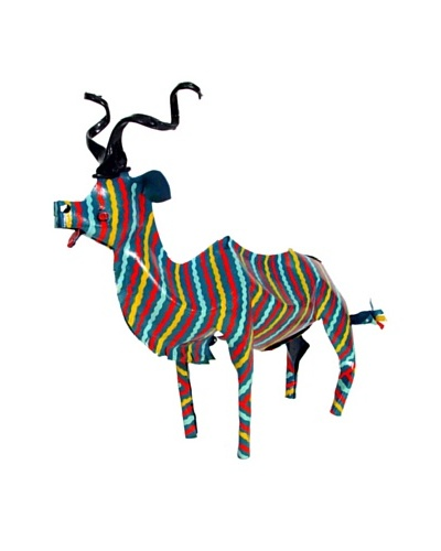 Mbare Painted Tin Kudu