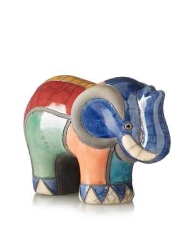 Mbare Medium Raku Elephant