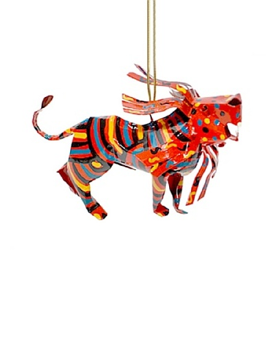Mbare Painted Tin Lion Ornament