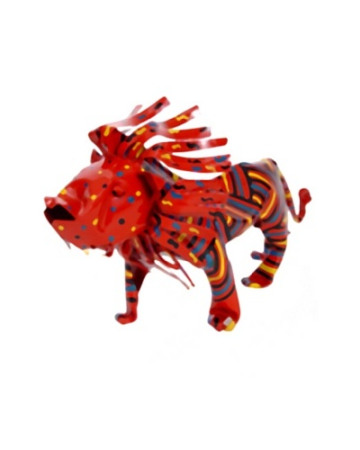 Mbare Painted Tin Lion