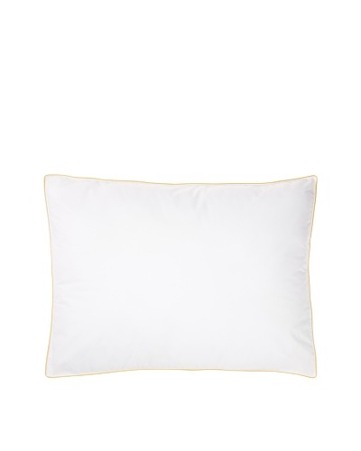 Mélange Home Density Firm Pillow, Yellow Piping