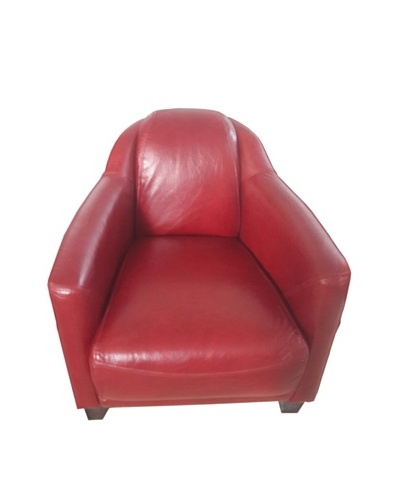 Mélange Home Canterbury Leather Chair, Royal Rouge