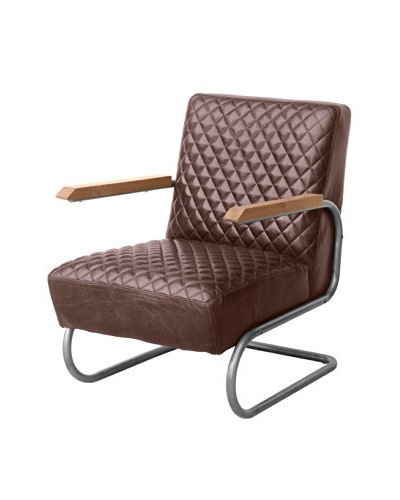 Mélange Home BMW 1940 Leather Armchair, Vintage Cigar