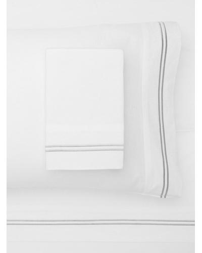 Mélange Home 2 Stripe Embroidered Sheet Set [Grey]
