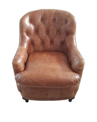 Mélange Home Somerset Leather Armchair, Columbia Brown