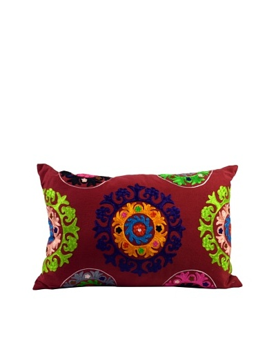 Mélange Home Suzani Embroidered Oblong Pillow, PurpleAs You See