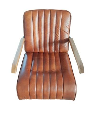 Mélange Home BMW 1930 Leather Armchair, Vintage Brown