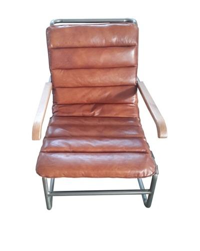 Mélange Home Hamilton Chaise Leather Lounge, Vintage Brown