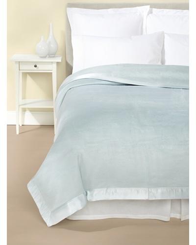 Mélange Home Chelsea Silk-Blend Blanket [Light Blue]