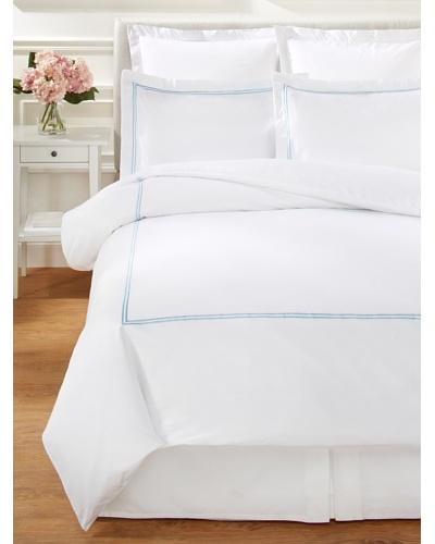 Mélange Home 2-Stripe Embroidered Duvet Cover Set