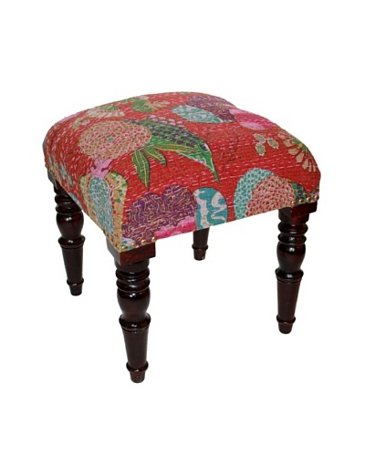 Mélange Home Bloomwash Stool, Red