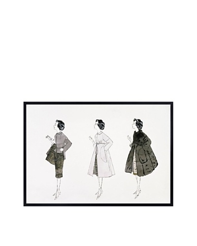 "McGaw Graphics Andy Warhol ""Three Female Fashion Figures, C. 1959"""