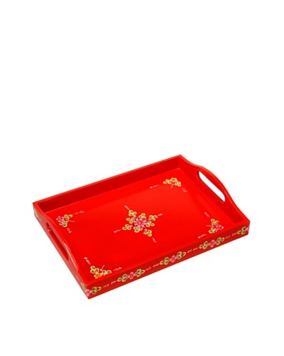 Mela Artisans Hand Painted Jashan Serving Tray