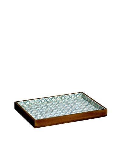 Mela Artisans Eternal Sky Decorative Tray, Blue/White