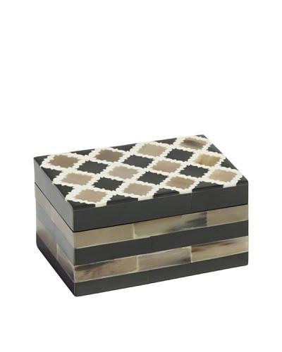 Mela Artisans Inlaid Bone Morocco Medium Decorative Box