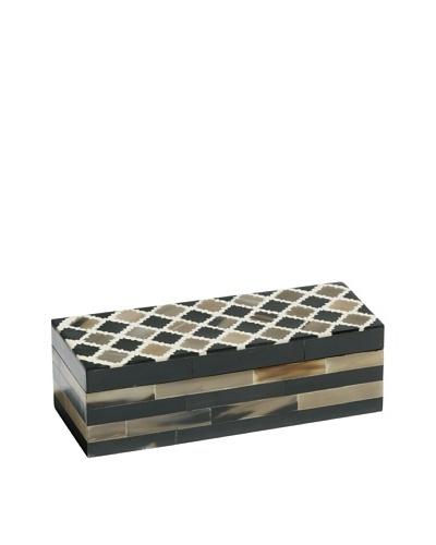 Mela Artisans Inlaid Bone Morocco Large Decorative Box