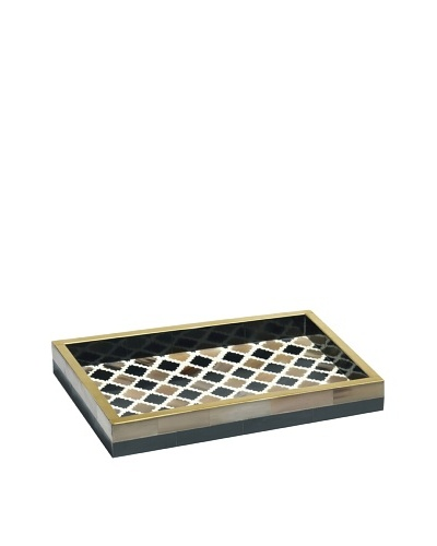 Mela Artisans Inlaid Bone Morocco Decorative Tray